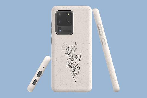 Flower Sketch Samsung Galaxy Bio-Case   Environmentally Friendly Sams