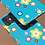 Thumbnail: Colourful Flowers on Blue iPhone Case