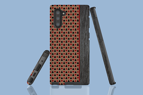 Driftwood Playing Card Suits Brown Samsung Galaxy Case