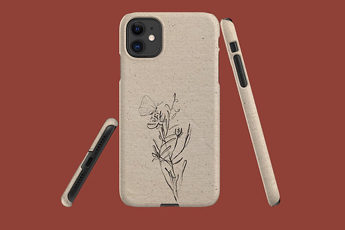 Flower Sketch Natural Paper iPhone Case 64