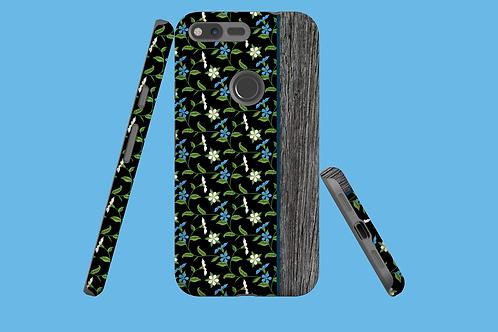 Driftwood Blue Flower Vines Google Pixel Case