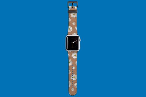 Daisies on Beige Apple Watch Strap