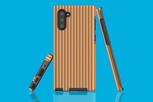 Tangerine Stripes Samsung Galaxy Case