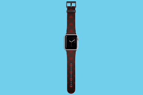 Hearts on Dark Gradient Apple Watch Strap