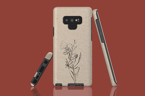Flower Sketch Natural Paper Samsung Galaxy Case