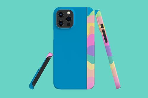 Pastel Rainbow Blue iPhone Case