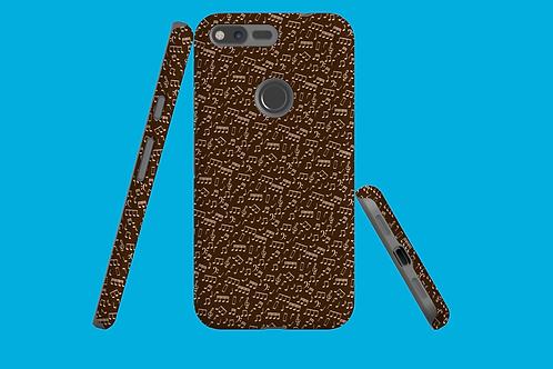 Chocolate Music Notes Google Pixel Case