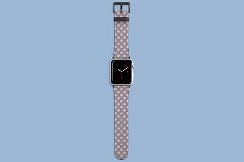 Pink Polka Dots on Grey