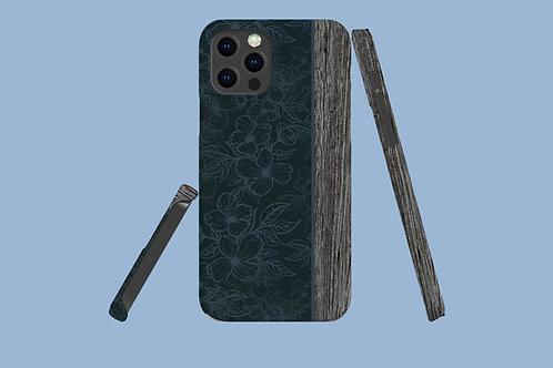 Driftwood Dark Flower Outlines iPhone Case