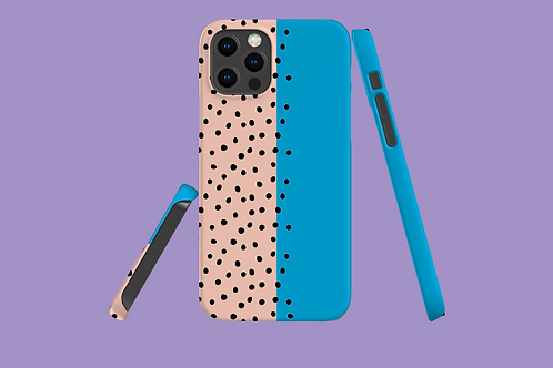 Two Tone Polka Dots iPhone Case