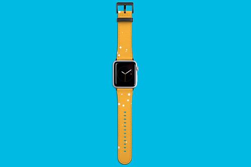 Paint Flecks Sunshine Orange Apple Watch Strap