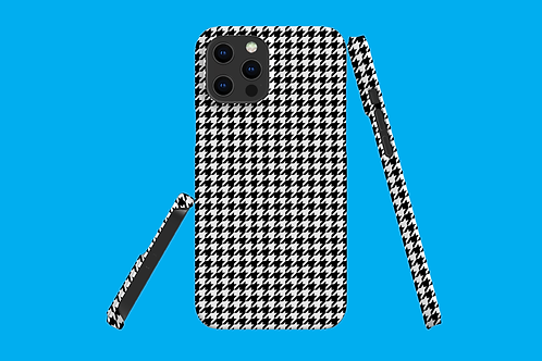 Black and White Houndstooth iPhone Case