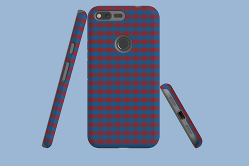 Red and Blue Plaid Google Pixel Case