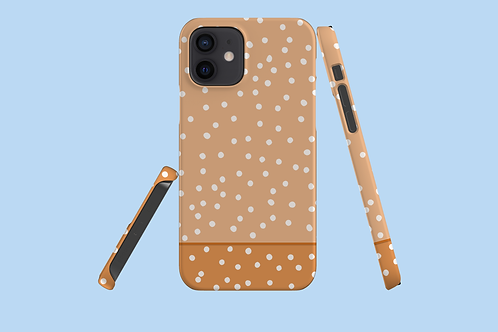 Two Tone Nude Polka Dots iPhone Case