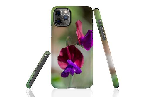 Purple Sweetpea iPhone Case
