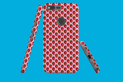 Pink Strawberry Google Pixel Case