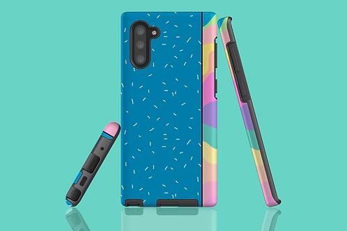 Pastel Rainbow Blue White Sprinkles Samsung Galaxy Case