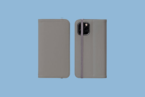 Ultimate Grey Solid Colour iPhone Folio Wallet Case