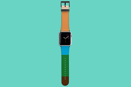 Five Colour Stripes Apple Watch Strap