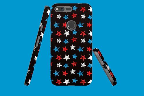 Red, White, and Blue Stars on Dark Gradient Google Pixel Case