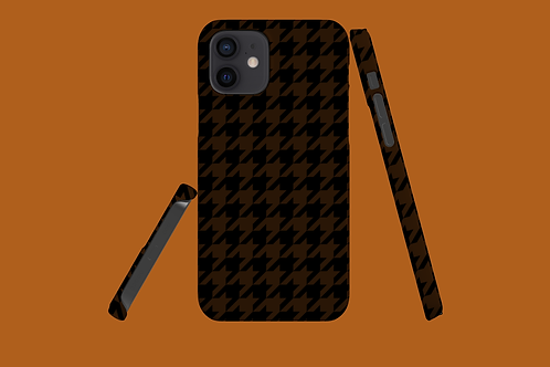 Black and Tan Houndstooth iPhone Case