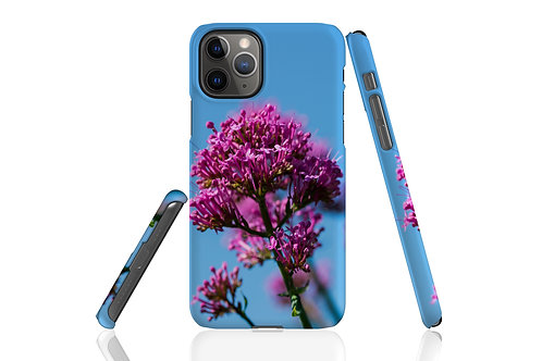 Pink Flowers against Blue Sky iPhone Case