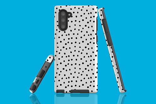 Black and White Polka Dots Samsung Galaxy Case