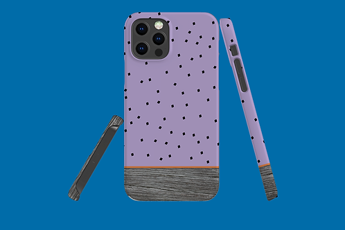 Driftwood Purple Squares iPhone Case