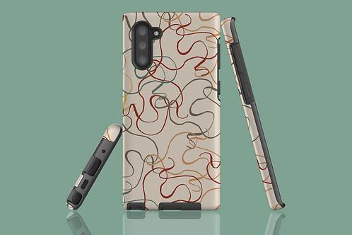 Earth Tone Squiggles Samsung Galaxy Case