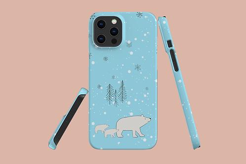 Polar Bear Family iPhone Case