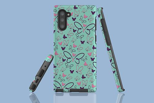 Pink and Purple Butterflies Samsung Galaxy Case