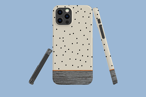 Driftwood Tiny Squares iPhone Case
