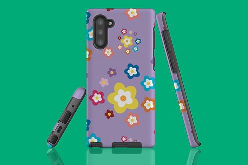 Colourful Flowers on Purple Samsung Galaxy Case