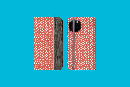 Driftwood Coral Dawbs iPhone Folio Wallet Case