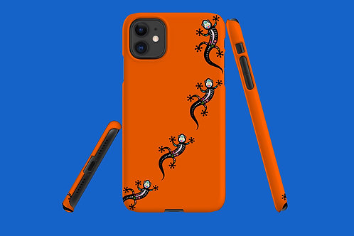 Vivid Orange Skeleton Salamander iPhone Case 60