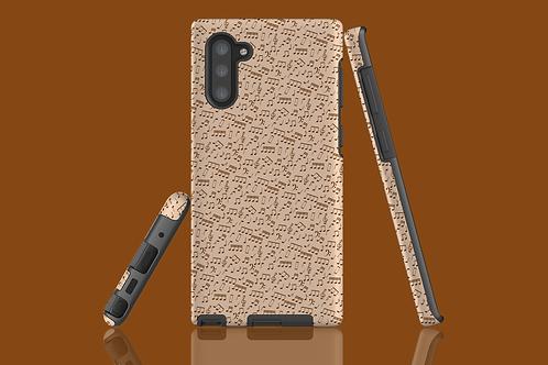 White Chocolate Music Notes Samsung Galaxy Case