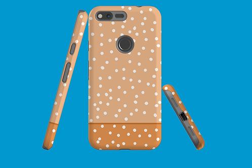 Two Tone Nude Polka Dots Google Pixel Case