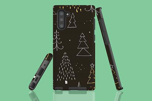 Golden Christmas Trees Samsung Galaxy Case