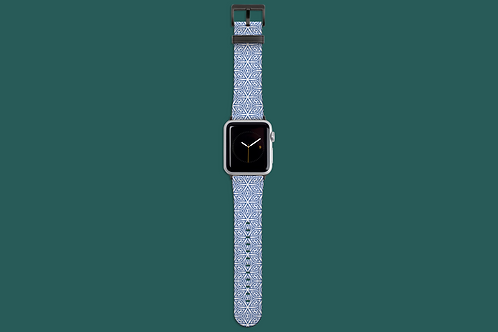 Focus White on Blue Apple Watch Strap