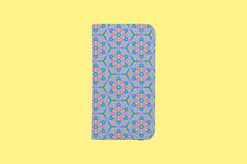 Pastel Kaleidoscope iPhone Folio Wallet Case