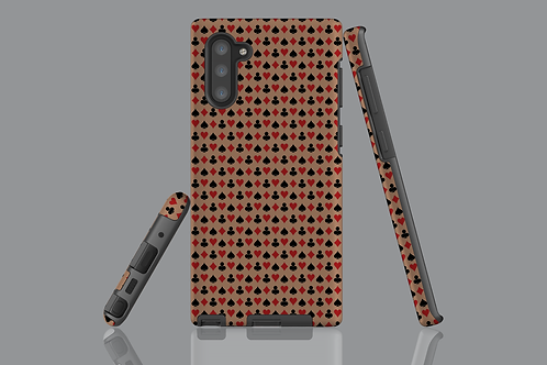 Playing Card Suits on Brown Samsung Galaxy Case