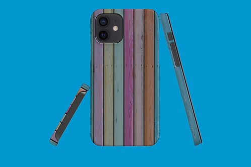 Colourful Wood Shed Wall iPhone Case