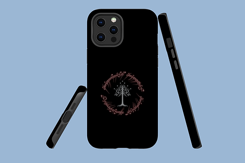 Red Glowing Fantasy Text iPhone Case