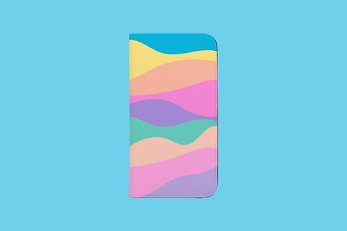Pastel Rainbow Mountains iPhone Folio Wallet Case
