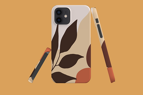 Leaf on Earth Tones iPhone Case