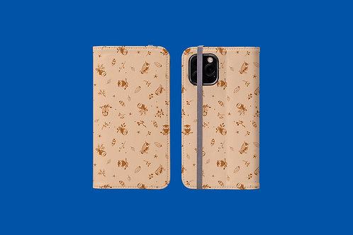Brown Owl iPhone Folio Wallet Case