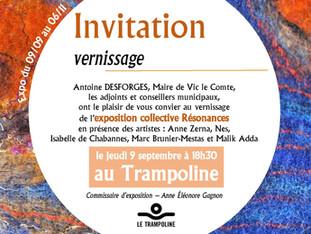 Vernissage de l'exposition Résonances le 9 septembre 2021