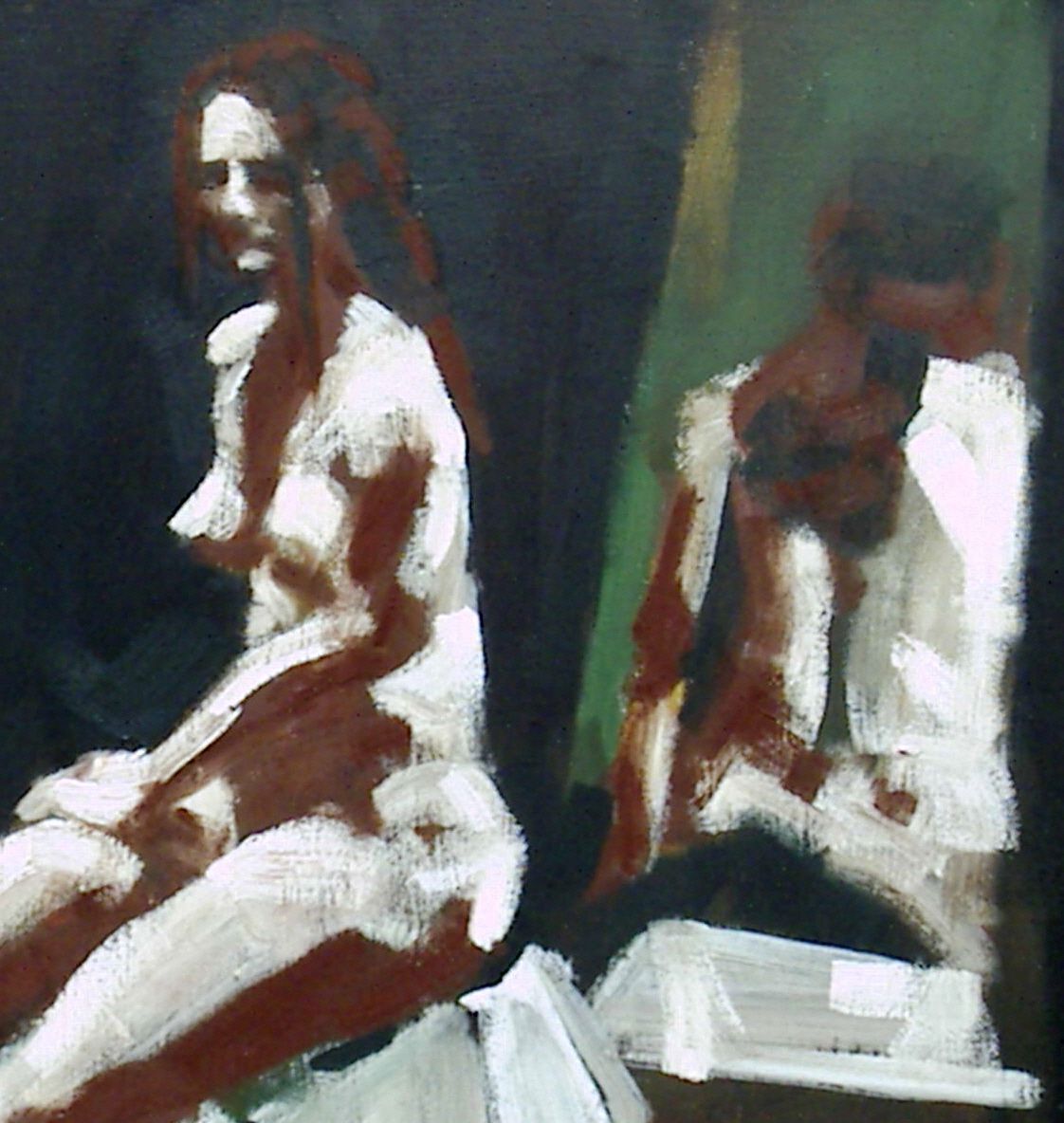 Model and double, oil, 2005
