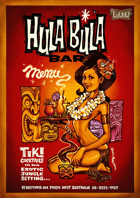 The Luwow Art Print: Hula Bula Bar