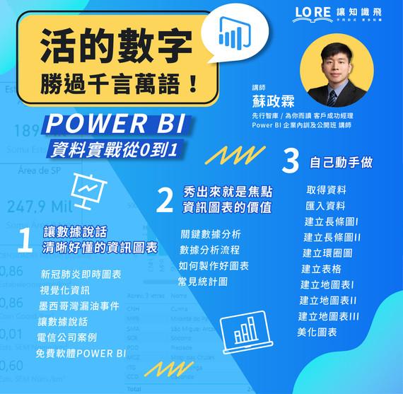 活的數字勝過千言萬語!POWER BI資料實戰從0到1